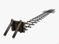 free obj model railway bumper world
