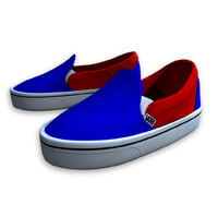 3d vans skateboard shoes model