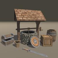 props medieval 3d 3ds