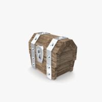 free clash chest 3d model