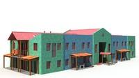 building background 3d model