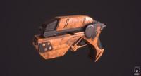 3d scifi gun