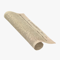 3d declaration independence rolled model