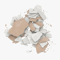 3d broken sheetrock 02 - model