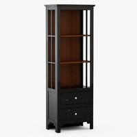 3d model keefe bookcase - black
