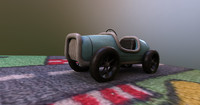 3d model of vintage toy car