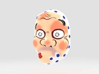 hyottoko mask 3d 3ds