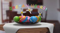 3d easter engraving eggs model