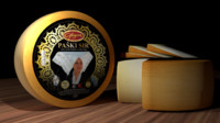 croatian traditional cheese paski 3d 3ds