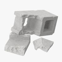 cinder blocks broken 03 max