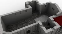 3d model croatian history ruins debris