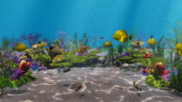 underwater scene 3d max