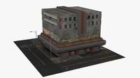3d building dieselpunk model