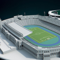 3d olympic stadium barcelona model
