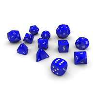 3d polyhedral dice set -