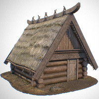 Medieval Low-Poly House 3d model pack