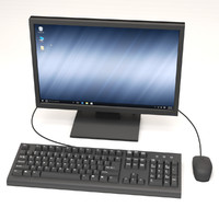 Computer Monitor, Keyboard & Mouse