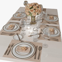table setting 3d max