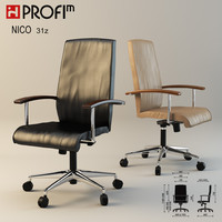 Leather office chair PROFIM nico 31z