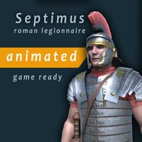 roman legionnaire septimus 3d max