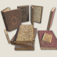 3d old books