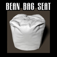 bean bag seat 3d obj