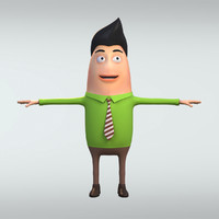 cartoon george 3d obj