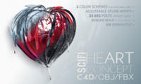 sci fi heart concept 3d x