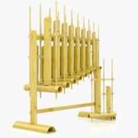 angklung indonesian traditional 3ds