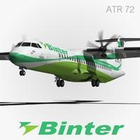 atr 72 binter 3d model