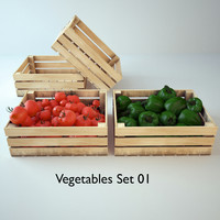 vegetables box 3d model
