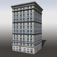 modeled building 3d model