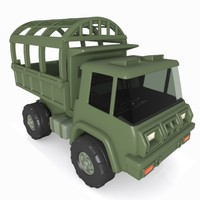 cartoon military truck 3d 3ds
