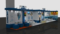 Engineering Exhibition Fair Stand Wooden 30x4
