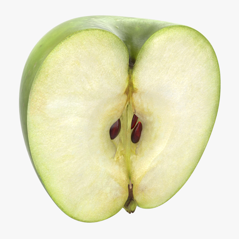 Green Apple Half 3d model 01.jpg