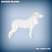 Cocker spaniel base mesh