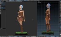 3d model character blender
