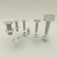 nuts bolts 3d fbx