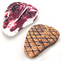 3d realistic dry aged grilled model