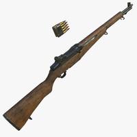 3d m1 garand rifle