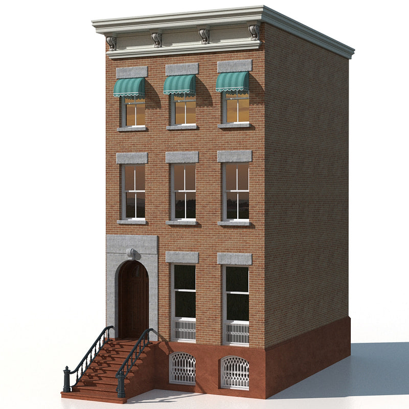 3d model of new york brownstone for Model houses in new york
