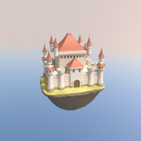 cartoon castle 3d blend