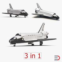 space shuttles 3d model