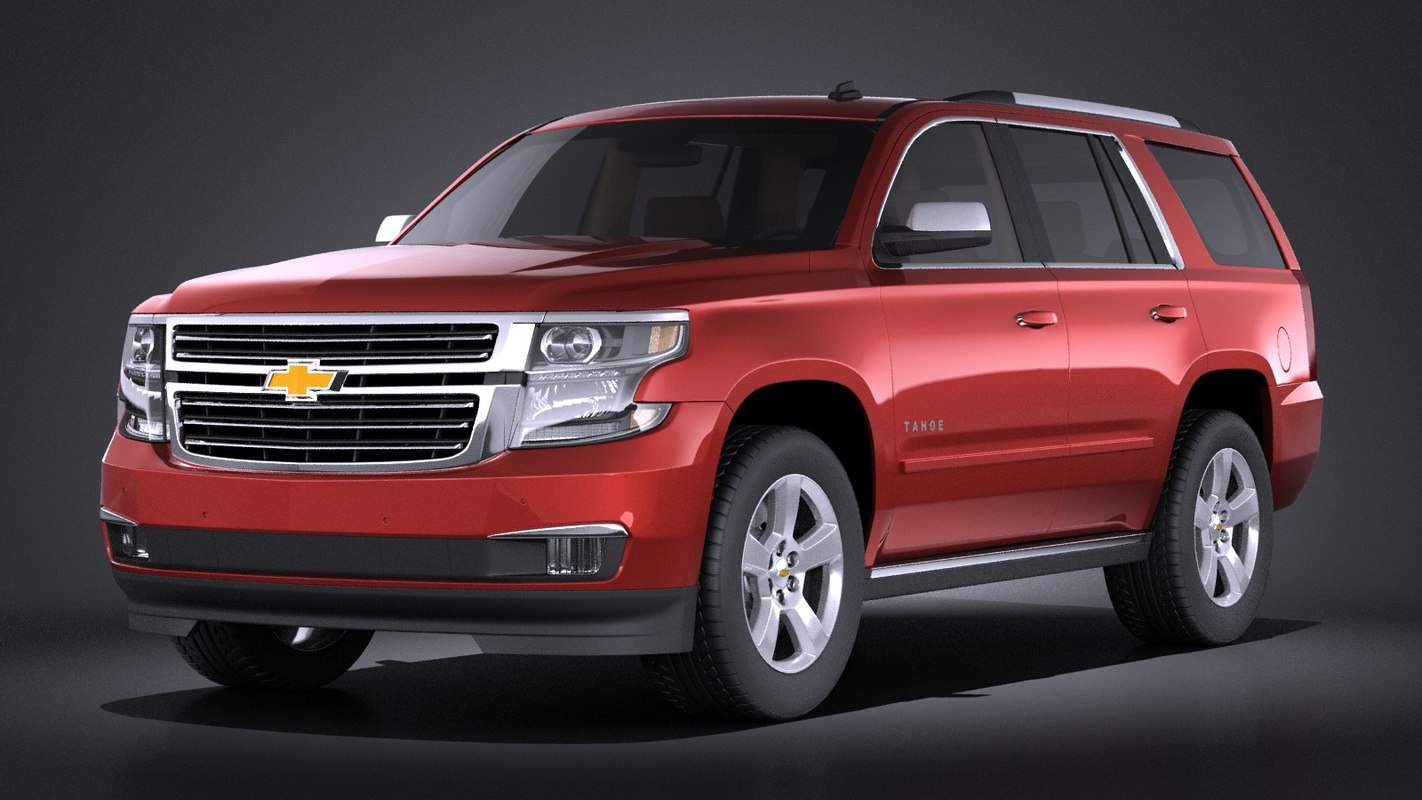 3d model 2015 chevrolet tahoe. Black Bedroom Furniture Sets. Home Design Ideas