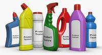 detergent bottles 3d model