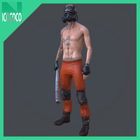 thug inmate male 3d model
