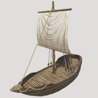 3d model ready small ship