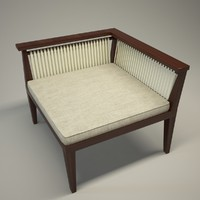 Wood arcmchair