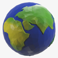 3d model earth style cartoon
