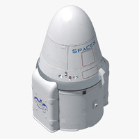 dragon space x capsule 3d max